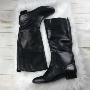 [House of Harlow 1960] Black Braid Knee High Boots